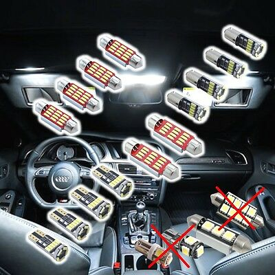 1Audi A5 S5 B8 8T 8F LED SMD Innenraumbeleuchtung Set Exclusive XXL WEISS 6500k