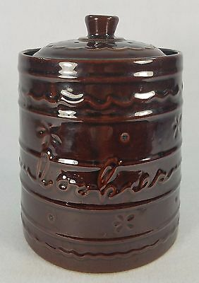 VINTAGE MARQUEST DAISY DOT POTTERY COOKIE JAR w/ LID EXCELLENT CONDITION 9""
