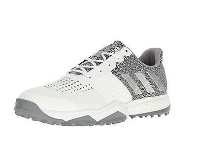2017 Adidas ADIPOWER S BOOST 3 Mens Medium Golf Shoe White/Silver/Onix Size  14