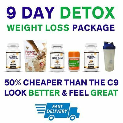 9 Day Clean Detox Package - CHOCOLATE - [ Aloe Vera & C9 Forever Lite Ultra ]