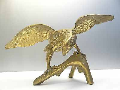 Vintage Brass Decorative American Eagle Bird Sculpture Free Standing Figurine