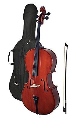 Windsor 4/4 Size Cello - Brown - Spruce Top Maple Neck - with Padded Bag