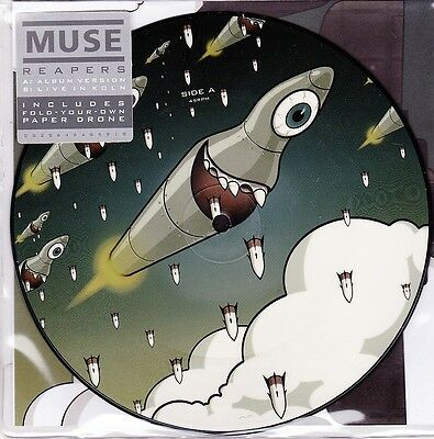 """Muse - Reapers (Album Version/ Live Version)- 7"""" RSD 2016 Picture Vinyl 45 - New"""