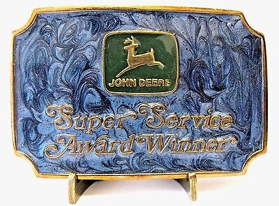 John Deere DEALER 1987 Super Service Award Belt Buckle Lt Ed 500/750 Portland 3