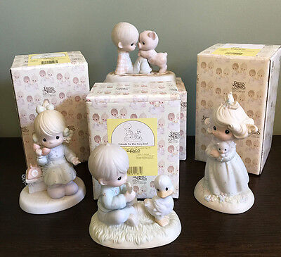 PRECIOUS MOMENTS (lot of 4) FIGURINES WITH BOXES