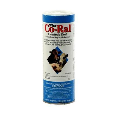 Pest Control Y-Tex Co-Ral Livestock Dust Shaker Can 2 lb Cows Pigs Cattle Face