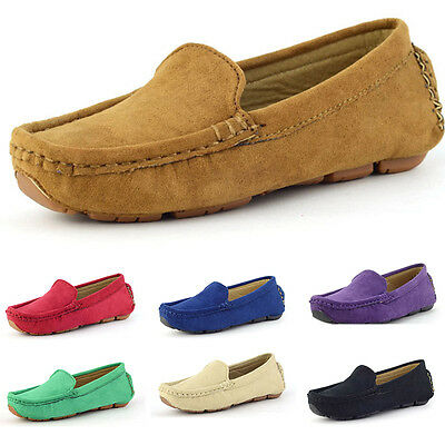 Children Boy Girl Slip On Casual Solid Color Shoes Loafers Soft Flats Shoes 2017