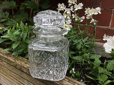 Crystal Cut Glass Jar with Lid  EXC. Condition