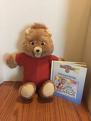 VINTAGE TEDDY  RUXPIN - parts/repair WORLDS OF WONDER 1985 with Book