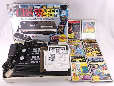 Vintage CBS Colecovision Console Job Lot Games Boxed Complete Zaxxon Lady Bug