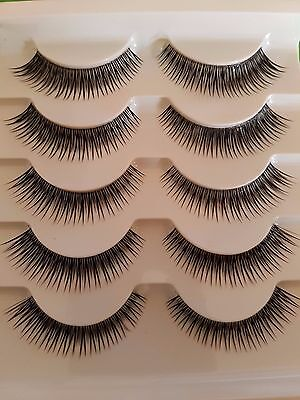 5 PAIA DI CIGLIA FINTE FOLTE E LUNGHE 11 mm (false eyelashes ) n.44-3 in fibra