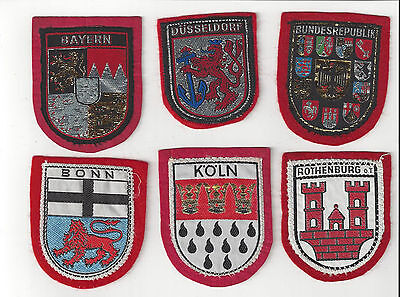 Group Of 6 Germany Souvenir Travel Patches (Group 1)