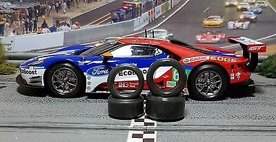 1/32 URETHANE SLOT CAR TIRE 2pr TUNING SET Front/Rears fits Carrera Ford GT