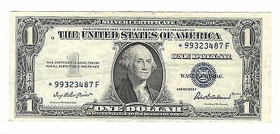1935F Series US $1:00 One Dollar Replacement Star Note VF condition.