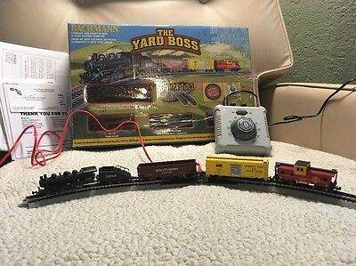 """Bachmann The Yard Boss """"N"""" Scale Electric Train Set Complete in Box Tested Works"""