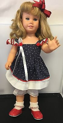 Chatty Cathy Chatty Baby 1964 Hard Face Working Voice Box Blonde Blue Eyes
