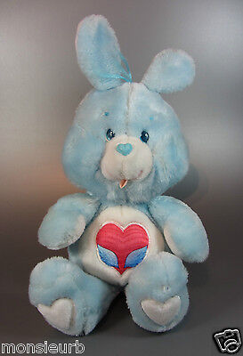 Vintage Care Bear Swift Heart Rabbit cousins plush Doll Soft fleece used 80's