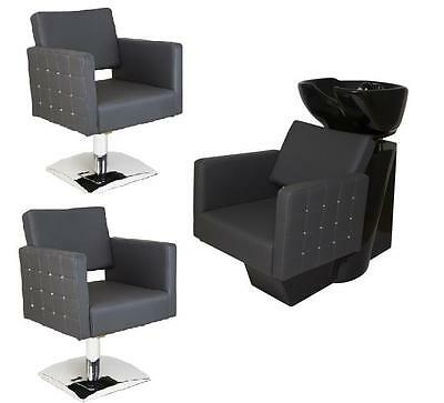 SALON HAIRDRESSING STYLING FURNITURE SETS Backwash Shampoo Styling Chairs GLAM!