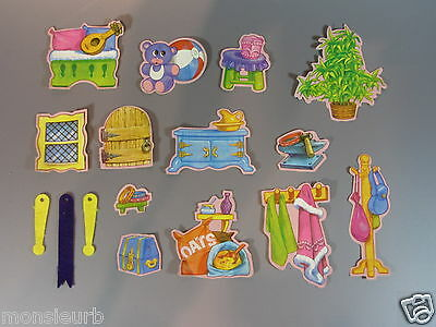 Vintage My Little Pony Dream Castle 13 Stickers Wall 3 Banners used Hasbro