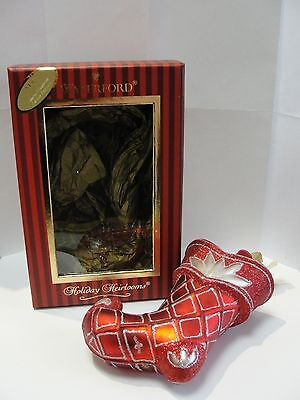 Waterford 5th Edition Red Stockings Ornament NIB 153778