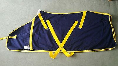 "6'0"" Navy/Yellow Instyle Today Summer Sheet"