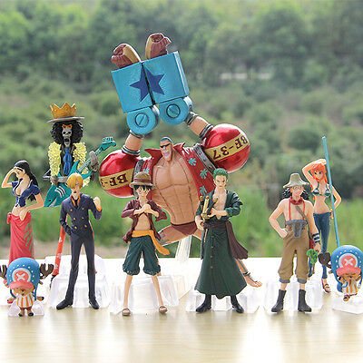 Anime One Piece New World LUFFY NAMI 1.57-5.12in Figures Set 10pcs New in Box