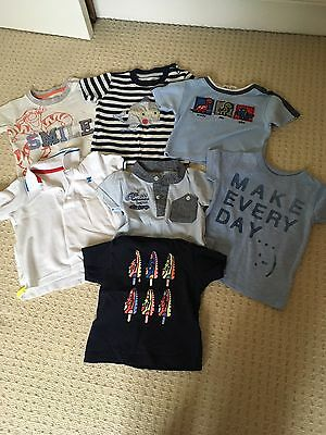 7 X Baby Boys 9-12 Month T-shirts, Great Condition