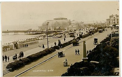 Sea Front,worthing.sussex- Real Photo-Postcard,posted-G