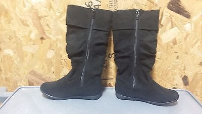 0e1183853f42 New Girls Youth Sonoma Aviana Mid Calf Zip Up Boots Style 144957 Black 110O