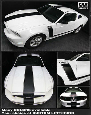 Ford Mustang 2005-2017 BOSS 302 Style Side & Top Stripes Decals (Choose Color)