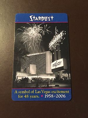Stardust Casino- Las Vegas 48 Year anniversary collectors hotel room key card