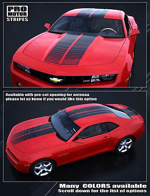 Chevrolet Camaro 2010-2015 Over-The-Top Strobe Double Stripes (Choose Color)