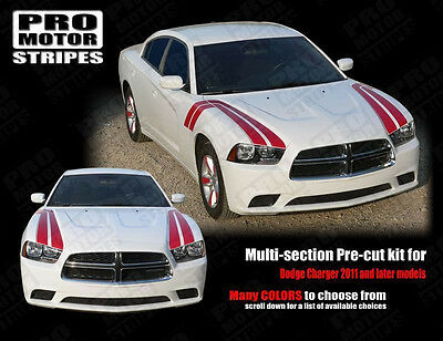 Dodge Charger 2011-2014 Fender to Side Thunderbolt Hash Stripes (Choose Color)