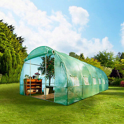 Galvanised Frame Poly tunnel Walk-In Greenhouse Polytunnel Green House Garden