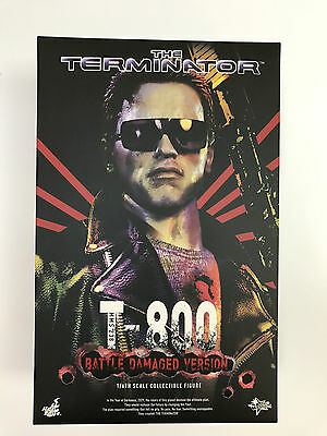 Hot Toys 1/6 The Terminator Mms238 T-800 Battle Damaged Version Figure