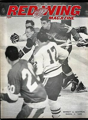 1969  Montreal Canadians at  Detroit Red Wings  hockey program