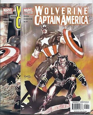 (2004) WOLVERINE AND CAPTAIN AMERICA  #1 2 3 4 (of 4) MS MARVEL! SHARON CARTER!