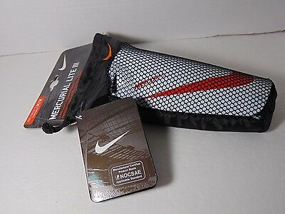 Nike Mercurial Lite III Shin Guards Adult Size M L Womens Mens White Red Soccer