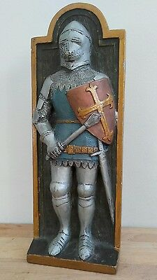 Marcus Design vintage Wall plaque Knight George Cross Hand Made in England
