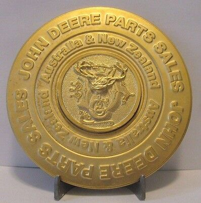 John Deere Parts Sales New Zealand Australia Gold Pltd Medallion 1884 Deer Logo