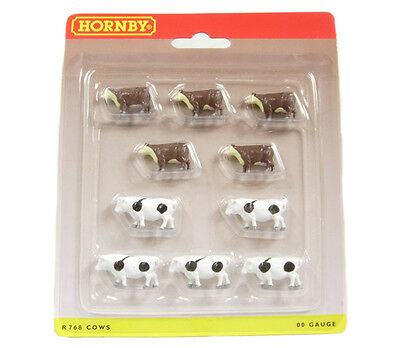 Hornby x 10 Cows R768 OO Scale (suit HO also)