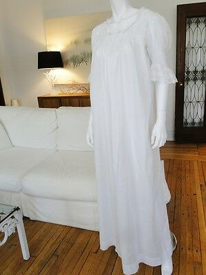 Antique Clothing -Circa 1900,belle Epque Fine Lawn Nightgown W/valencienne Lace
