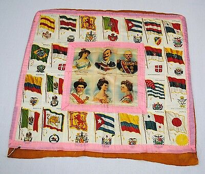 Cigarette Silk Pillow Cover European Royalty and South American Flags