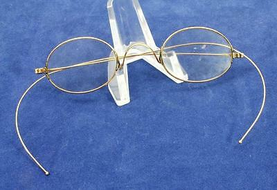 Antique Oval Lens 14K Solid Gold Spectacles Eyeglasses Riding Temple circa 1880