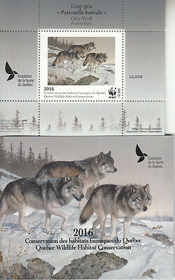 Canada MNH Quebec Conservation 2016 WWF Overprint DQ83