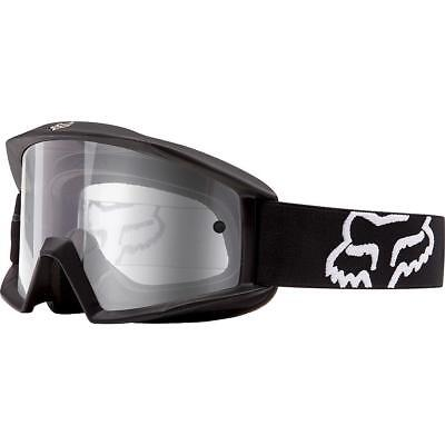 NEW Fox Goggle Main Sand Matte Black With Grey Lens from Moto Heaven