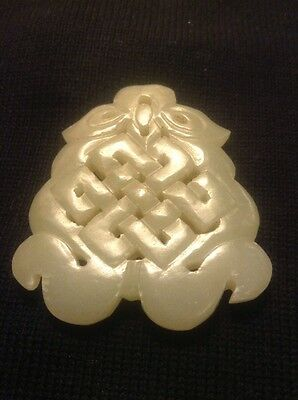 Chinese Qing Dynasty Antique Celadon Jade Pendant