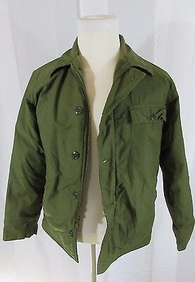 Vintage 70's U.S. Army Military Cold Weather Permeable A-2 Coat Jacket - Medium