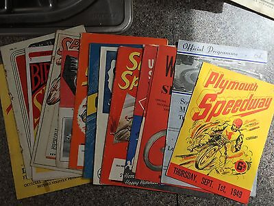 Speedway programmes x 15 All 1940s and 50s