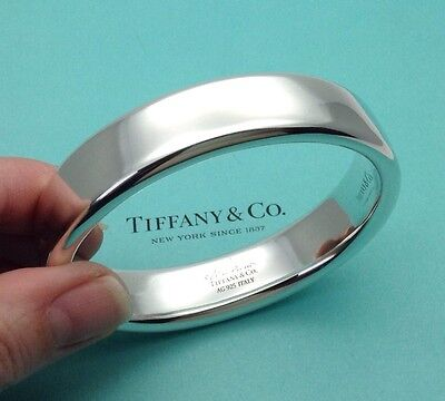 Tiffany & Co. Elsa Peretti Sterling Silver Doughnut Bangle Bracelet